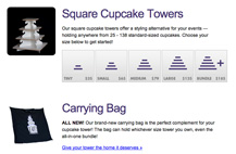Screenshot of The Cupcake Tower - Product Catalog project