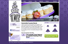 Screenshot of The Cupcake Tower website