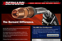 Screenshot of Bernardwelds.com homepage