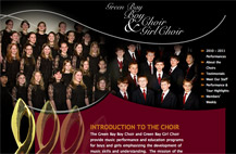 Screenshot of Green Bay Boy & Girl Choirs website