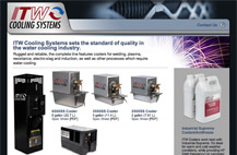 Screenshot of ITW Cooling Systems homepage