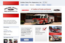 Screenshot of Facebook welcome tab for Golden State Fire