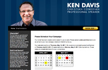 Ken Davis: Easy Upcoming Event Email Scheduling