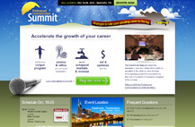 Screenshot of Summit website