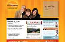 Screenshot of Mark Gungor Show website