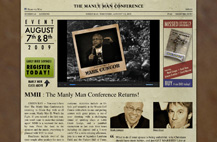 Screenshot of The Manly Man 2 website