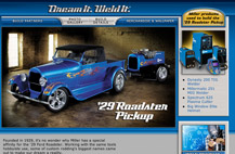 Screenshot of roadster minisite