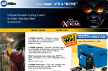 Screenshot of X-TREME minisite