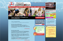 Screenshot of Tri-County Gymnastics website